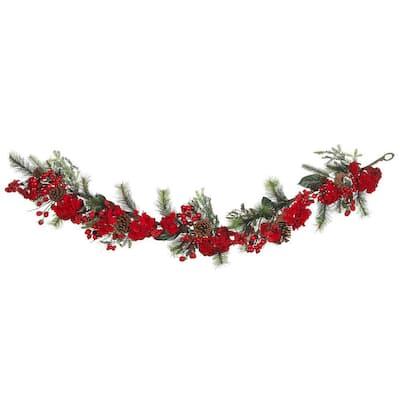 6 ft. Holiday Artificial Hydrangea Garland
