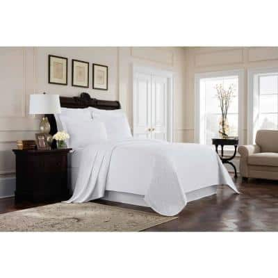 Williamsburg Richmond White Solid Twin Bed Skirt