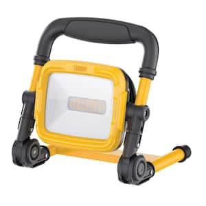 2000 Lumens ProSeries Ultra Bright Flood Weatherproof 5000K Plug-in Portable Foldable L-Stand LED Work Light (2-Pack)