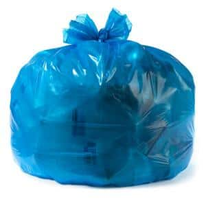 55 Gallon Blue Recycling Bags (100ct.) 1.2 MIL