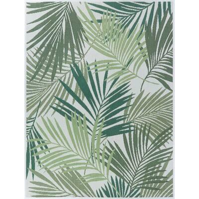 Green Palms 5 ft. x 7 ft. Indoor/Outdoor Area Rug