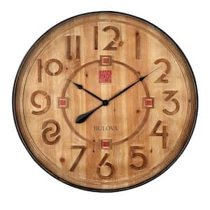 Frank Lloyd Wright designed 31.5 in. Antique Black Wall Clock