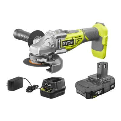 ONE+ 18V Brushless Cordless 4-1/2 in. Angle Grinder Kit with (1) 1.5 Ah Battery and Charger