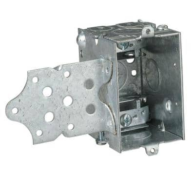 1-Gang 18 cu. in. New Work Pre-Galvanized Metal Gangable Switch Box (Case of 25)