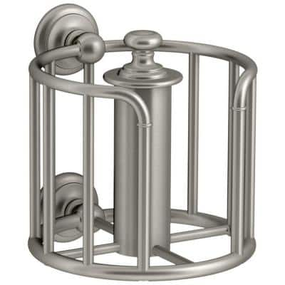 Artifacts Double Post Toilet Paper Holder in Vibrant Brushed Nickel