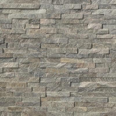 Sage Green Ledger Panel 6 in. x 24 in. Natural Quartzite Wall Tile (6 sq. ft./Case)