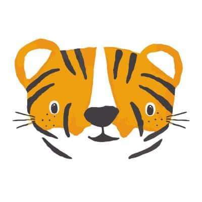Tiger Cubs Peel and Stick Wall Decals (set of 4)