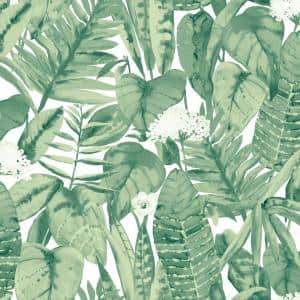 Tropical Jungle Green Vinyl Peel and Stick Wallpaper (Covers 28 Sq. Ft.)