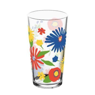 4 pack Midsummer Floral Plastic Jumbo, 20 Oz.
