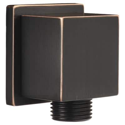 1/2 in. Square Brass 90-Degree Elbow in Legacy Bronze