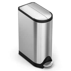 4.75 Gal. Butterfly Step Trash Can in Brushed Stainless Steel