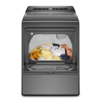 7.4 cu. ft. 240-Volt Chrome Shadow Smart Electric Vented Dryer with AccuDry System