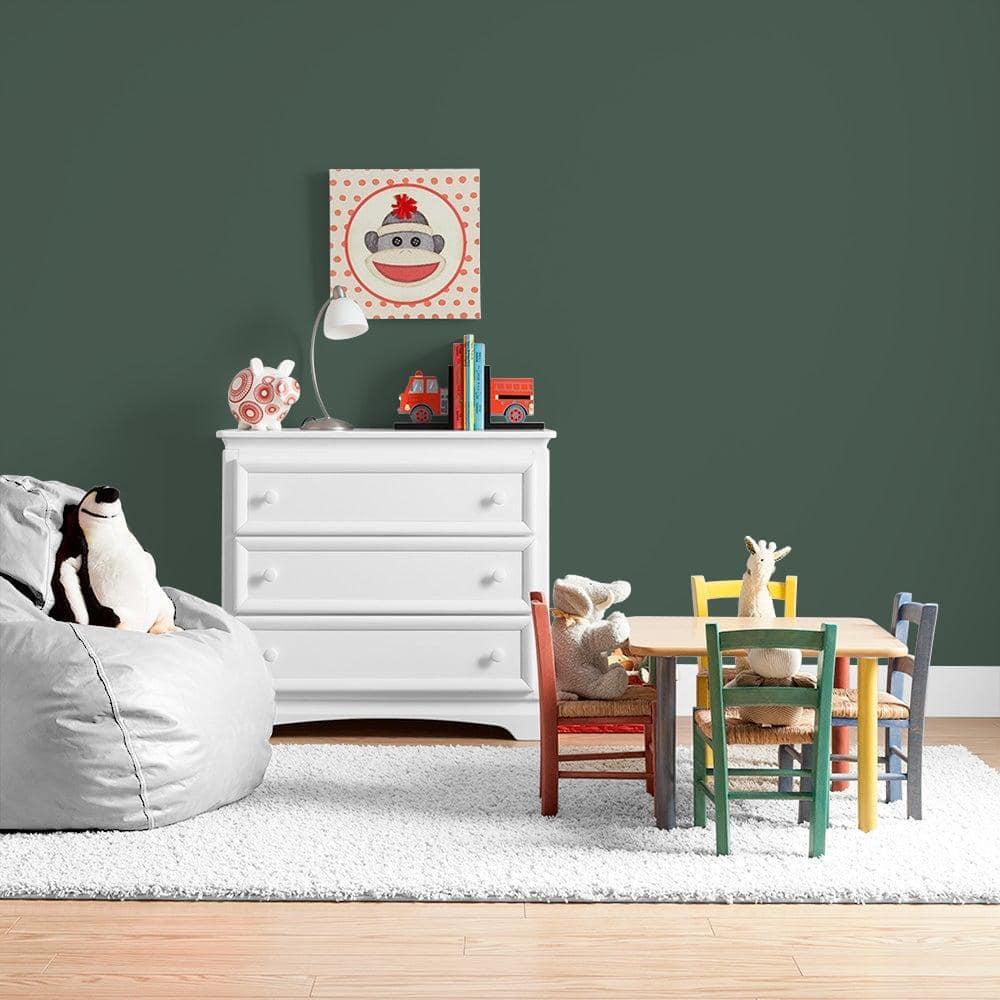 Ppg Ultralast 1 Gal Ppg1136 7 Dark Green Velvet Matte Interior Paint And Primer Ppg1136 7u 01f The Home Depot