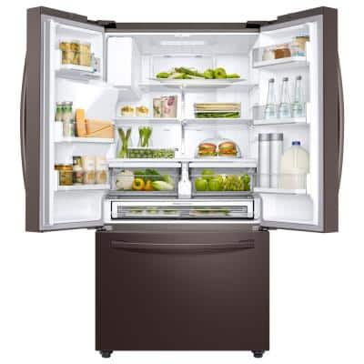 23 cu. ft. 3-Door French Door Refrigerator in Tuscan Stainless Steel with CoolSelect Pantry, Counter Depth