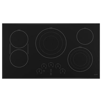 36 in. Radiant Electric Cooktop in Matte Black with 5 Elements including Tri-Ring Power Boil Element