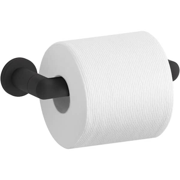 Kohler Kumin Wall Mount Toilet Paper Holder In Matte Black K 24546 Bl The Home Depot