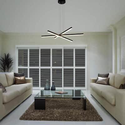 Sirius 97.84-Watt Integrated LED Black Pendant