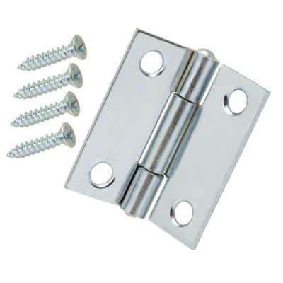 1.5 in. Zinc-Plated Non-Removable Pin Narrow Utility Hinge (2-Pack)