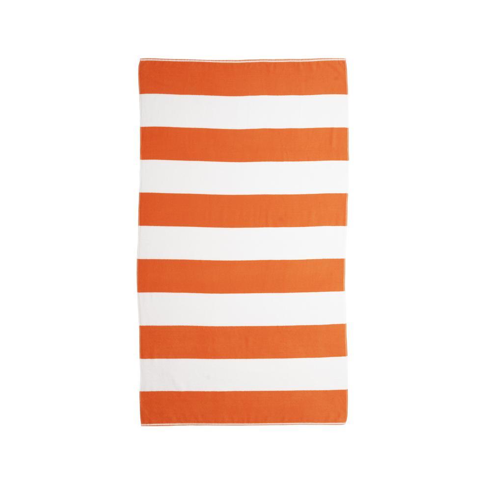 Caro Cabana Orange Beach Towel