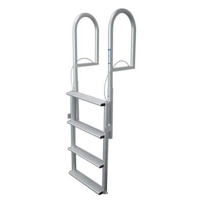 4-Step Wide Rung Aluminum Lifting Dock Ladder