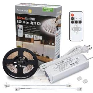 8.2 ft. (2.5 m) RibbonFlex PRO Warm White Tape Light Kit with Remote