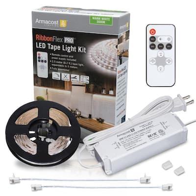 8.2 ft. (2.5 m) RibbonFlex PRO Warm White Tape Light Kit with Remote