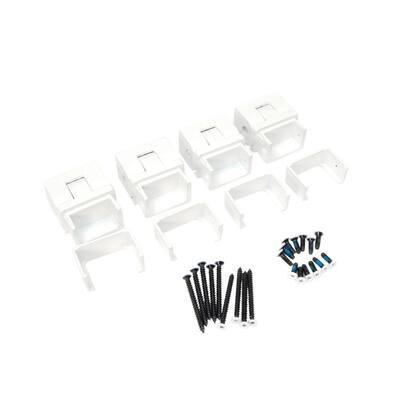 Al13 1-1/2 in. Aluminum White Stair External Bracket (4-Pack)