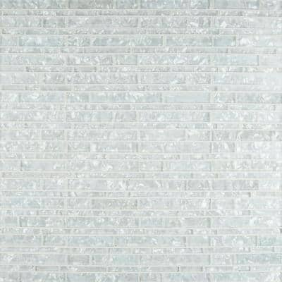 Crystal Glacier Interlocking 12 in. x 12 in. x 8 mm Glass Mesh-Mounted Mosaic Wall Tile (1 sq. ft.)