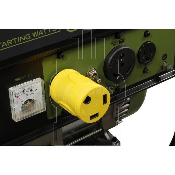 30 Amp RV//Generator Adapter NEMA TT-30P to NEMA L14-30R by AC WORKS®