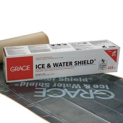 Ice and Water Shield 36 in. x 75 ft., 225 sq. ft. Roll Self-Adhered Roof Underlayment with Release Paper Safety Cutter