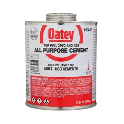 32 oz. Medium Milky All-Purpose ABS, CPVC, PVC Cement