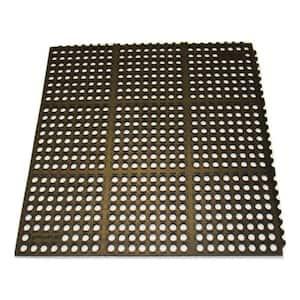 K-Series Black 36 in. x 48 in. x 7/10 in. Drain-Thru Grease-Resistant Rubber Kitchen Mat