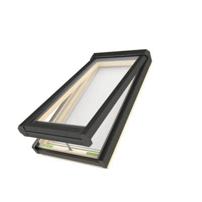 FVE 30-1/2 in. x 37-1/2 in. Rough Opening Electric Venting Deck-Mounted Skylight with Laminated Low-E Glass