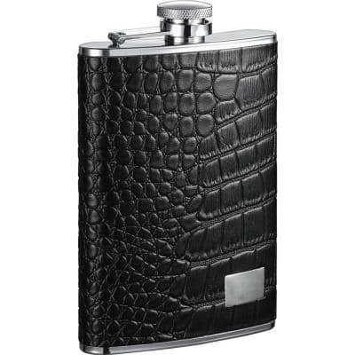 Gator Leather Hip Flask