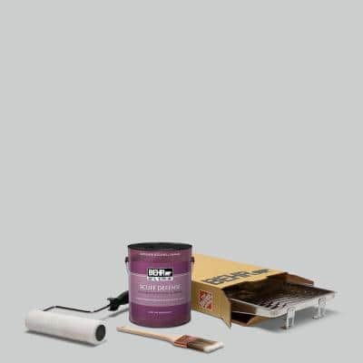 1 gal. #PPU26-16 Hush Extra Durable Eggshell Enamel Interior Paint and 5-Piece Wooster Set All-in-One Project Kit