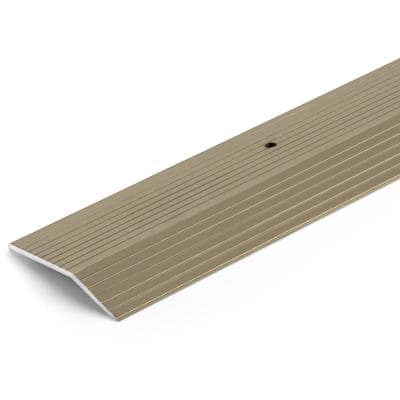 Satin Nickel 2 in. x 72 in. Aluminum Carpet Trim Transition Strip