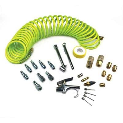 Pro Accessory Kit with Flexible Poly Recoil Hose (27-Piece)