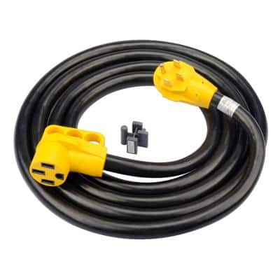 50 ft. 6/3 AWG + 8/1 AWG 50 ft. 125/250-Volt 50 Amp with Handles (14-50P/14-50R ) STW VELCRO ETL RV Extension Cord