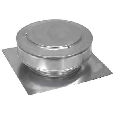 50 sq. in. NFA Aluminum Round Back Static Roof Vent Unpainted