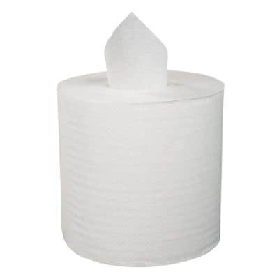 Center-Pull Hand Towels 2-Ply Perforated 7 7/8 x 10 White (600 Sheets per Roll, 6 Rolls per Carton)