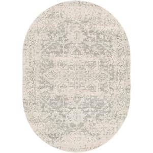 Demeter Gray 6 ft. 7 in. x 9 ft. Oval Oval Area Rug