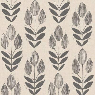 Scandinavian Black Block Print Tulip Paper Non-Pasted Wallpaper Roll (Covers 56 Sq. Ft.)
