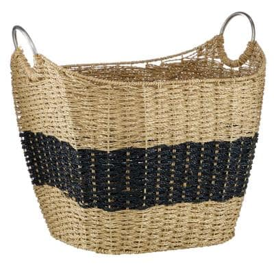 Natural Brown Sea Grass Natural Storage Basket