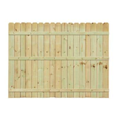 Installed Pressure Treated Pine Dog-Ear Picket Fence