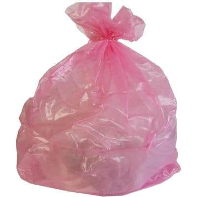 33 in. W x 39 in. H 33 Gal. 1.5 mil Pink Trash Bags (100-Count)