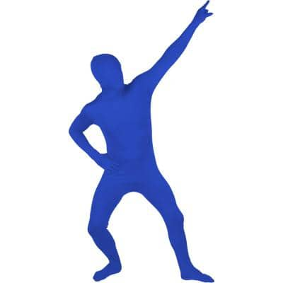 Adult Spandex Second Skin Full Bodysuit Halloween Costume (Blue)
