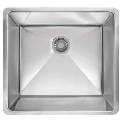 Planar 8 Undermount Stainless Steel 22.5 in. x 18.5 in. Single Bowl Kitchen Sink