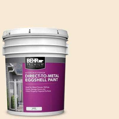 5 gal. #13 Cottage White Eggshell Direct to Metal Interior/Exterior Paint