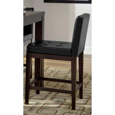 Athena Dark Chocolate Upholstered Counter Chairs (2/ctn)