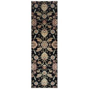 Kirsten Black/Multi 2 ft. x 8 ft. Floral Runner Rug